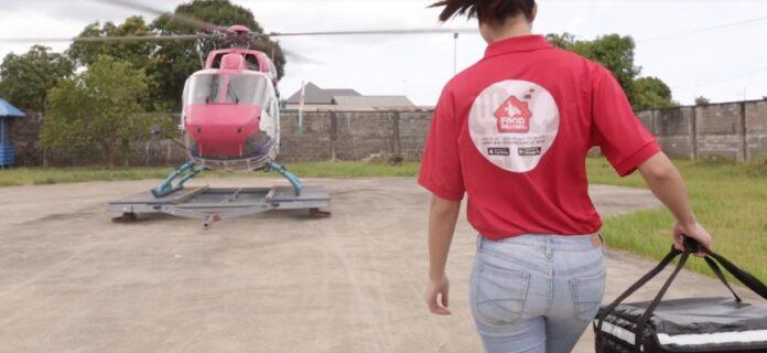Bedrijf in Suriname gaat eten bezorgen met helikopter