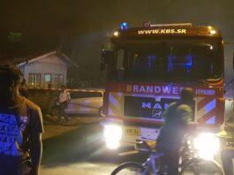 Houten woning in Suriname compleet verwoest na brand