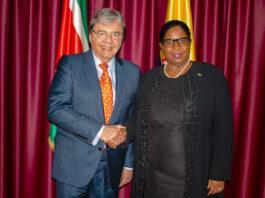 Werkbezoek Minister van Buitenlandse Zaken van Columbia aan Suriname