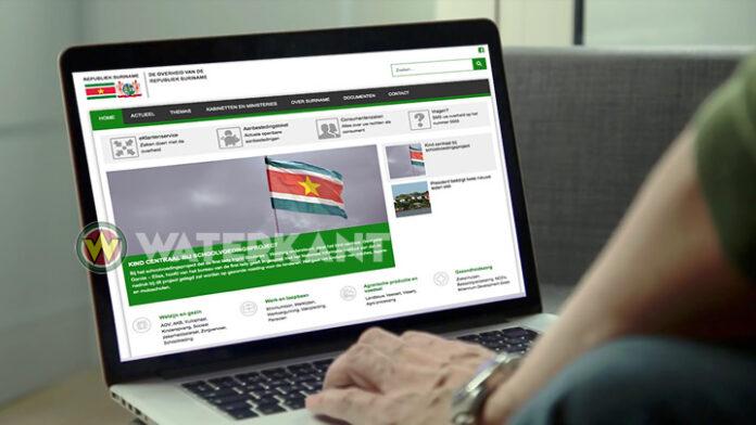 Nieuwe versie van overheidssite Suriname gelanceerd