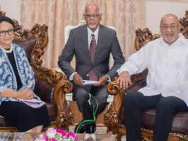 Indonesische minister van Buitenlandse Zaken bezoekt Suriname