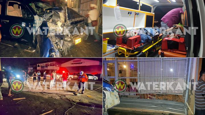 Auto ramt elektriciteitspaal, twee gewonden afgevoerd