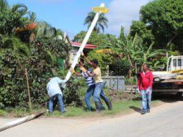 Nieuwe straatnaamborden voor Ressort Blauwgrond in Suriname