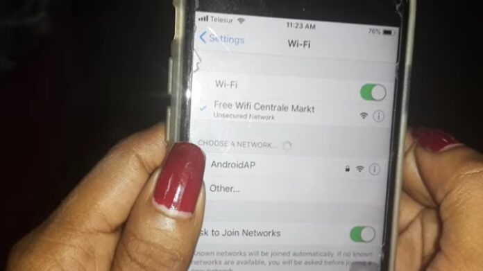 Centrale Markt in Suriname beschikt vanaf nu over gratis WiFi