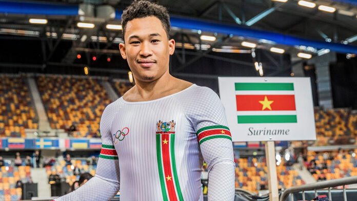 Jaïr Tjon En Wielrenner Jaïr Tjon En Fa wint goud voor Suriname in de VS