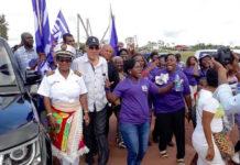 Misbruikt president Suriname asfalteringsproject voor NDP verkiezingspropaganda?