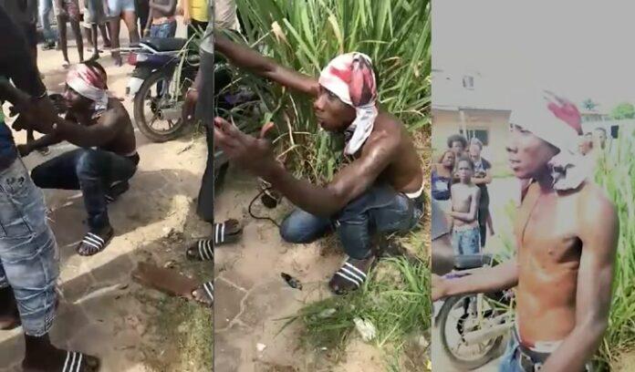 VIDEO: Buurtbewoners houden man aan die wordt verdacht van beroving