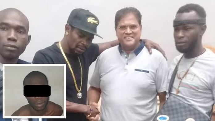 Door politie Suriname aangehouden rover in verband gebracht met Santokhi