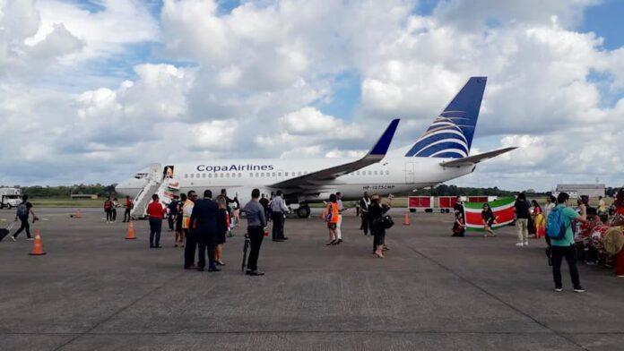 Eerste vlucht van Copa Airlines vanuit Panama naar Suriname