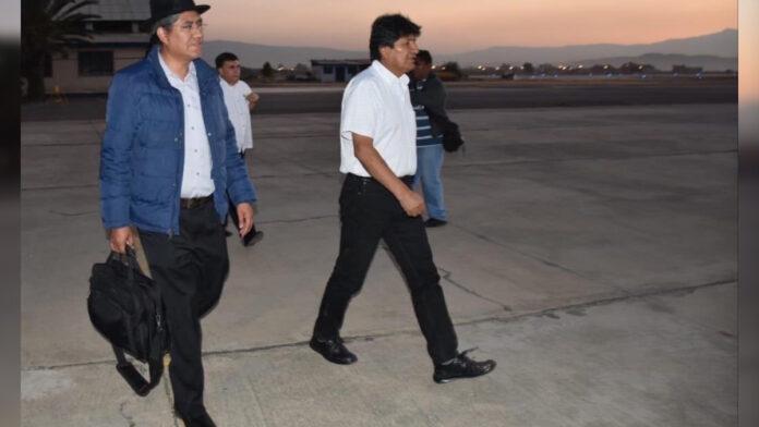 President Bolivia onderweg naar Suriname