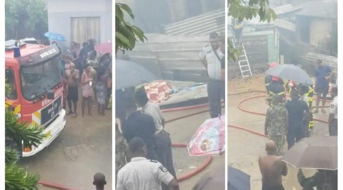 Zeker vier kinderen om het leven gekomen na woningbrand in Suriname