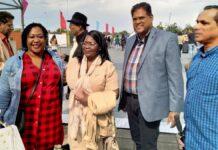 Santokhi in Nederland en bezoekt Kwaku Festival in Amsterdam