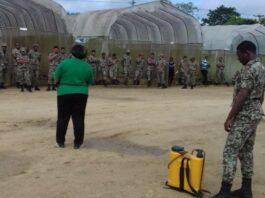 Personeel agrarisch bedrijf Nationaal Leger Suriname getraind