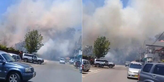 VIDEO: Brand op historische begraafplaats de Nieuwe Oranjetuin in Suriname