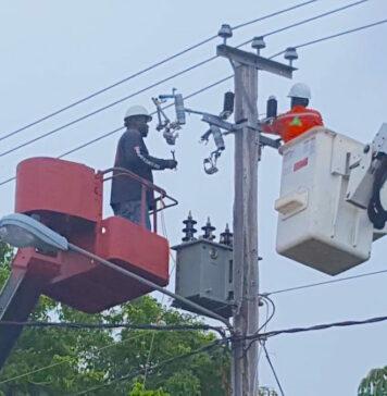 Bliksemgeleider EBS doorgesneden; Lelydorp en omgeving uren zonder stroom