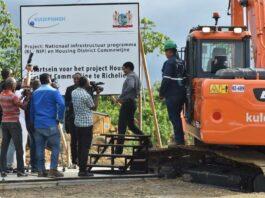 Startsein gegeven voor nieuw huizen project in Commewijne