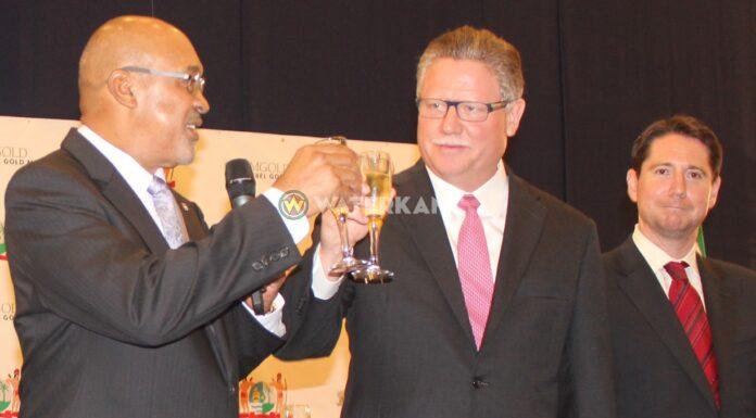 Topman IAMGOLD afgelopen week in Suriname