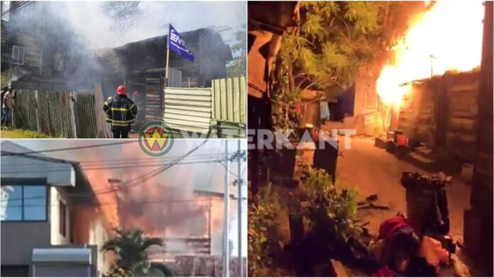 Drie woningen door brand verwoest in Paramaribo
