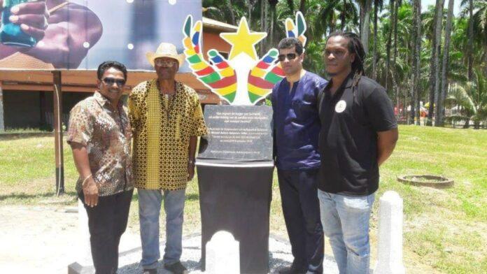 Monument onthuld bij viering Dag der Migranten in-Suriname