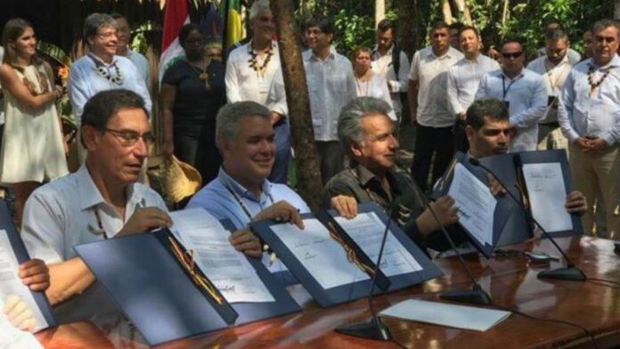 Vp Adhin ondertekent Leticia pact voor behoud Amazone