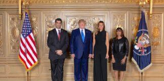 Vice-president Suriname ontmoet Amerikaanse president Trump