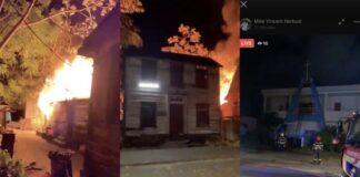 VIDEO: Districtscommissaris gaat live bij woningbrand vanmorgen