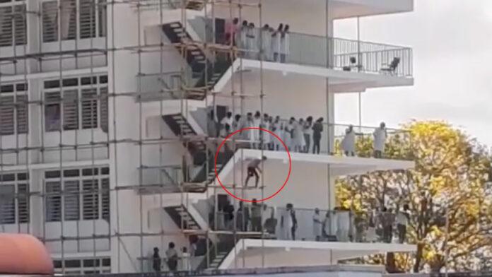 Man zwaargewond na sprong vanaf steiger bij Academisch Ziekenhuis