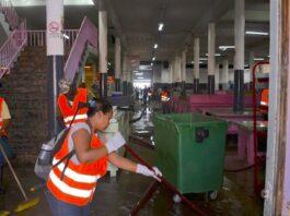 Grote schoonmaak Centrale Markt Suriname in volle gang