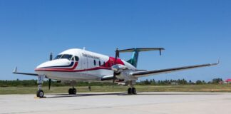 Eerste vlucht Trans Guyana Airways naar Nederland via Suriname