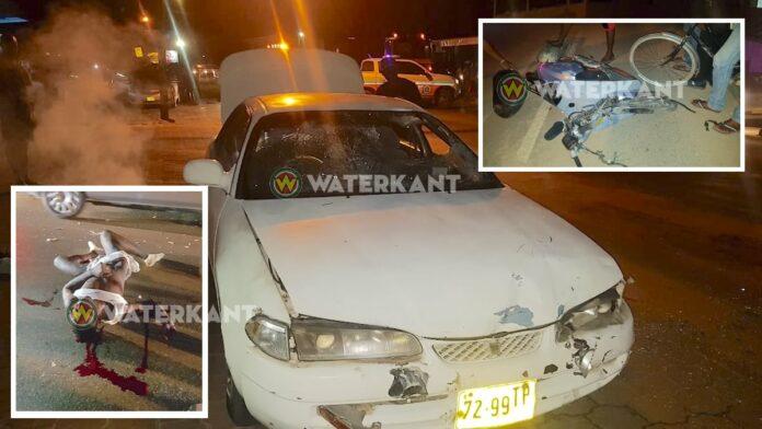 Bromfietser zwaargewond bij frontale aanrijding in Suriname