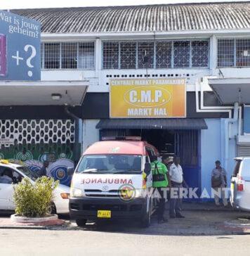 Man dood neergevallen op Centrale Markt Suriname