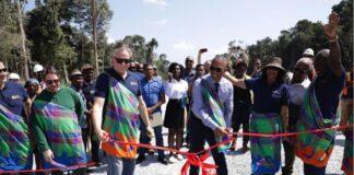 Launch Saramacca goud project van Rosebel en staat Suriname