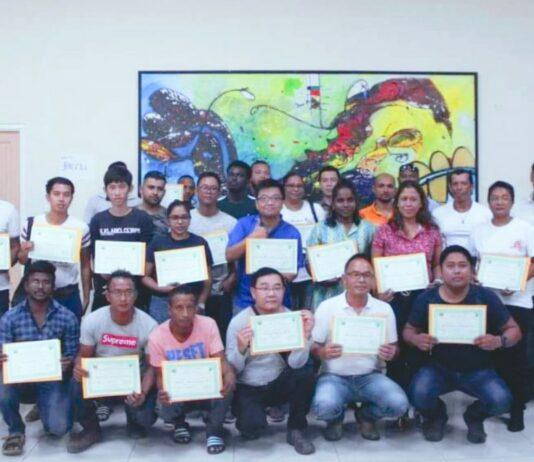 Afsluiting training verantwoord gebruik van pesticiden houtsector Suriname