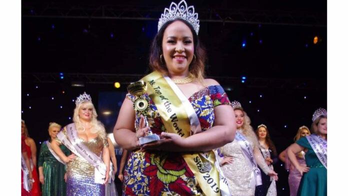 Evita Tjon A Ten bezorgt Suriname 'Miss Top of The World Plus size' titel