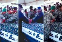 VIDEO: Eerbetoon doodgeschoten militair bij goudkamp in Suriname