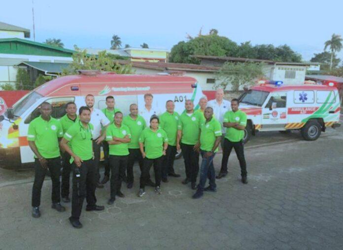 Nederlandse training voor ambulancepersoneel van AZP