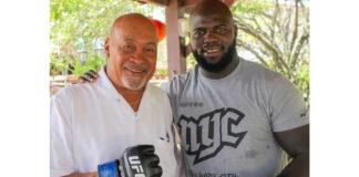 Jairzinho 'Bigi Boi' Rozenstruik op bezoek bij president van Suriname