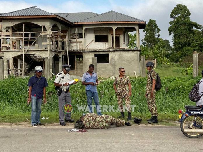 Militair gewond bij aanrijding vanmorgen in Suriname