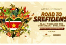 Komend weekend 'The road to Srefidensi' te Copacabana-Boulevard