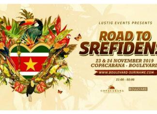 Komend weekend 'The road to Srefidensi' te Copacabana-Boulevard