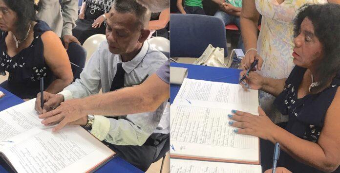 Surinaams koppel met visuele beperking treedt in het huwelijk