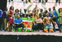 Surinaamse bodybuilders kampioen in alle categorieën Yana Cup