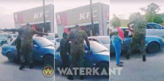 VIDEO: Militair misdraagt zich bij verkeersonge al Lelydorp-su
