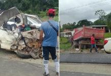 Dode bij zware aanrijding tussen pick-up en vrachtwagen op Highway