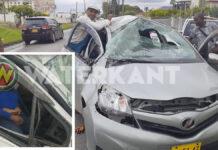 Vrouw overleden bij verkeersongeval waarbij auto over de kop sloeg