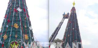 Volks-kerstboom op Onafhankelijkheidsplein Suriname gaat zaterdag aan