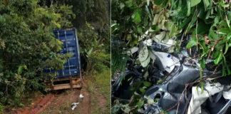 Zware aanrijding met truck op de Afobakaweg