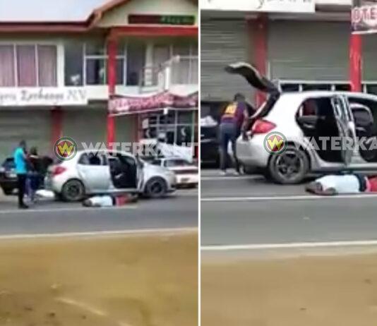 Politie Suriname beëindigd ontvoering van man in auto