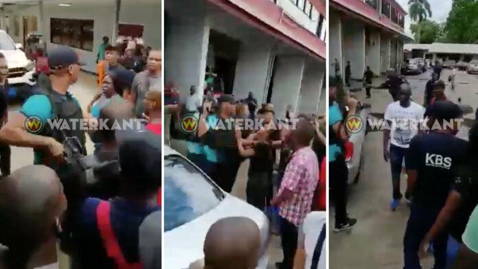 Schoten door politie gelost na vergadering brandweerbond Suriname