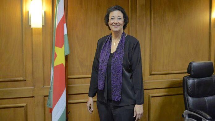 Diaspora Oorkonde 2019 naar DNA voorzitter Jennifer Simons-Geerlings